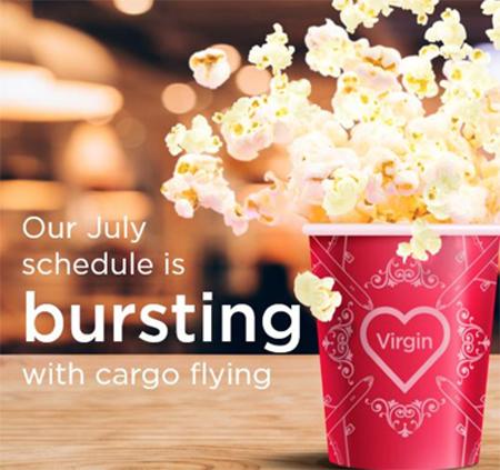 Virgin Cargo July Schedule